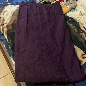 Solid purple shower curtain